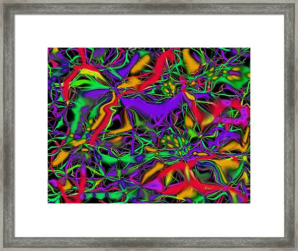 Colorful Connections Framed Print