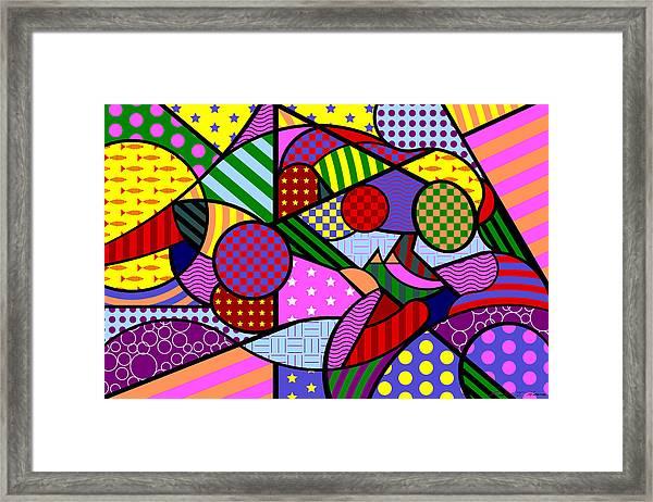 Colorful Couple 1 V-1 Framed Print