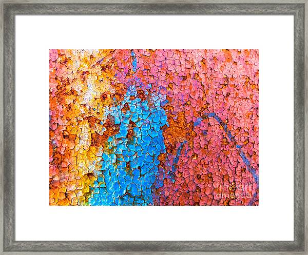 Colorful Cracks Framed Print