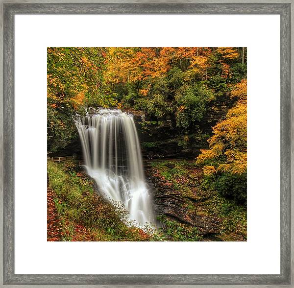 Colorful Dry Falls Framed Print