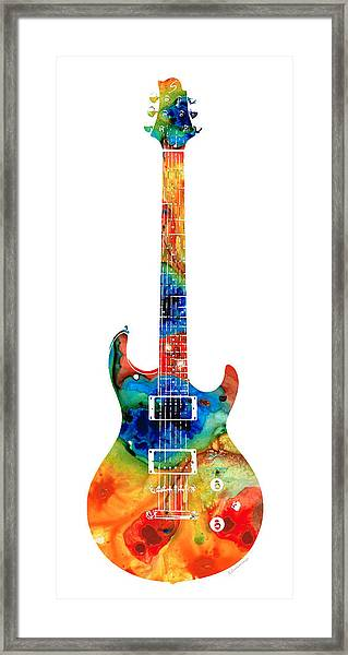 Colorful Electric Guitar 2 - Abstract Art By Sharon Cummings Framed Print