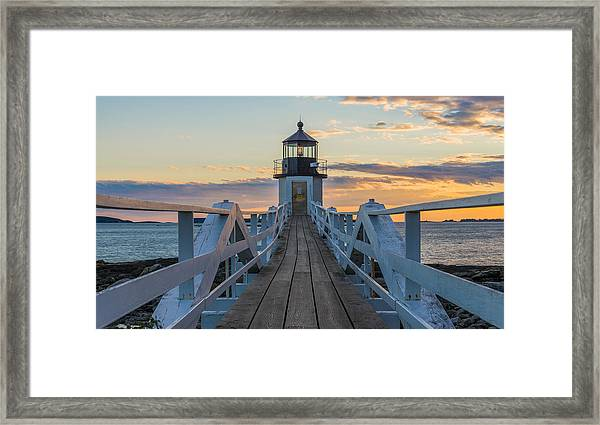 Colorful Ending Framed Print