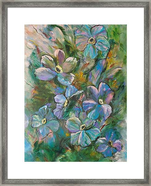 Colorful Floral Framed Print