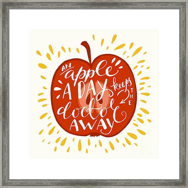 Colorful Hand Lettering Illustration Of Framed Print by Tashanatasha