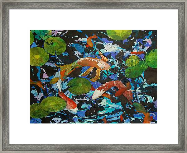 Colorful Koi Framed Print