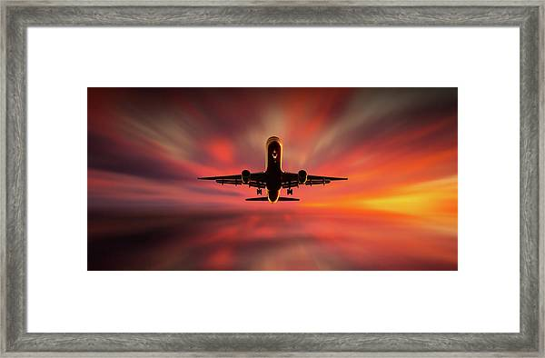 Colorful Landing. Framed Print by Leif L?ndal