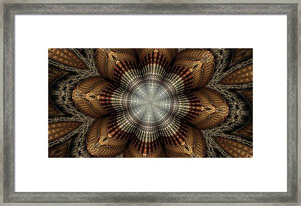 Colorful Metals Kaleidoscope Framed Print