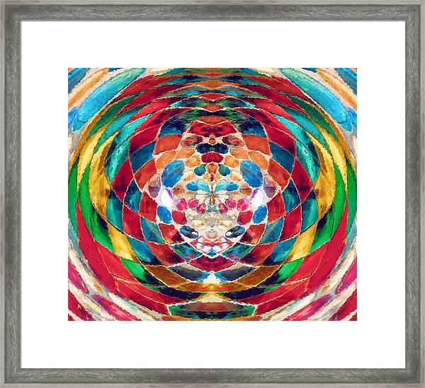 Colorful Mosaic Framed Print