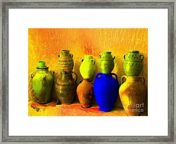 Colorful Pottery Framed Print