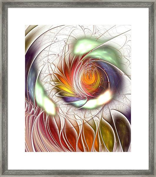 Colorful Promenade Framed Print
