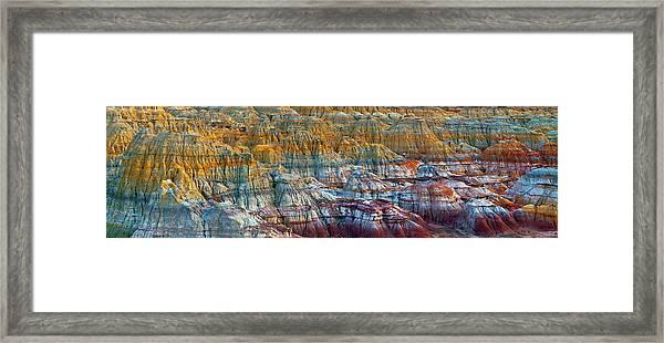 Colorful Rocks Framed Print by Hua Zhu