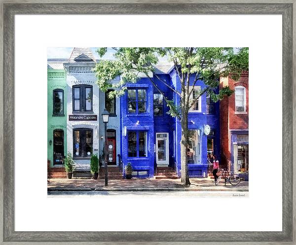 Alexandria Va - Colorful Street Framed Print