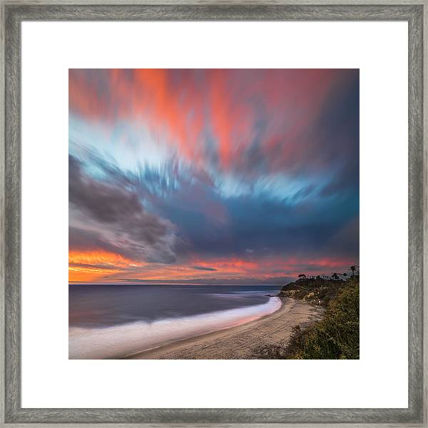 Colorful Swamis Sunset - Square Framed Print