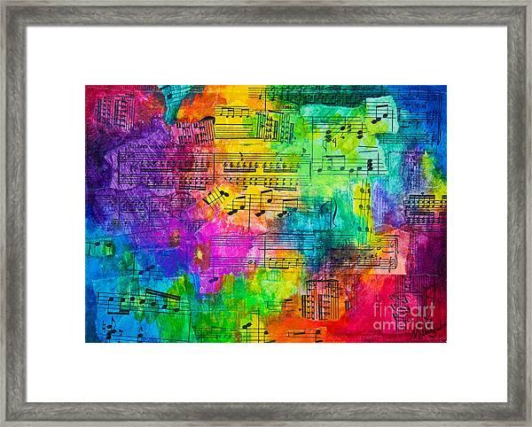 Colorful Symphony Framed Print