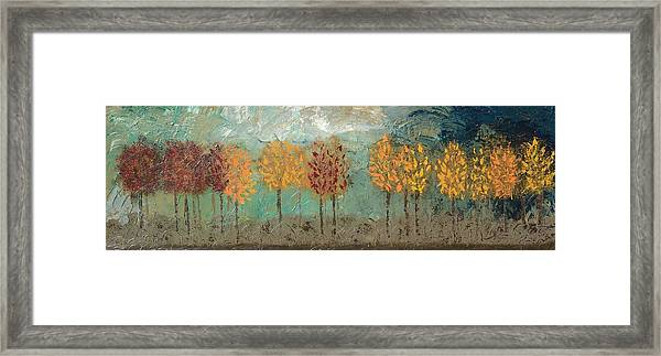 Colorful Trees Framed Print