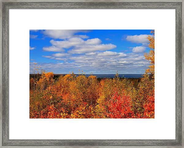 Colors Above Lake Superior Framed Print