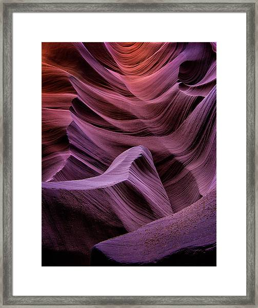 Colors Of Antelope Canyon Framed Print