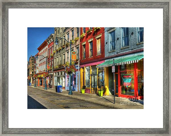 Framed Print featuring the photograph Colors Of Cincinnati by Mel Steinhauer