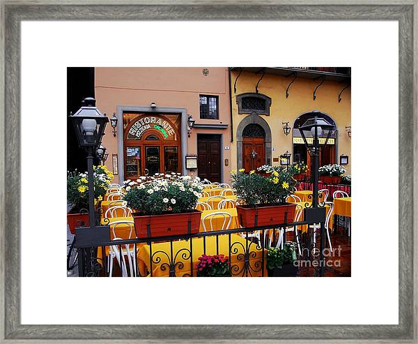 Framed Print featuring the photograph Colors Of Italy by Mel Steinhauer