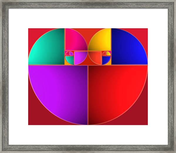 Colors Of Love Framed Print