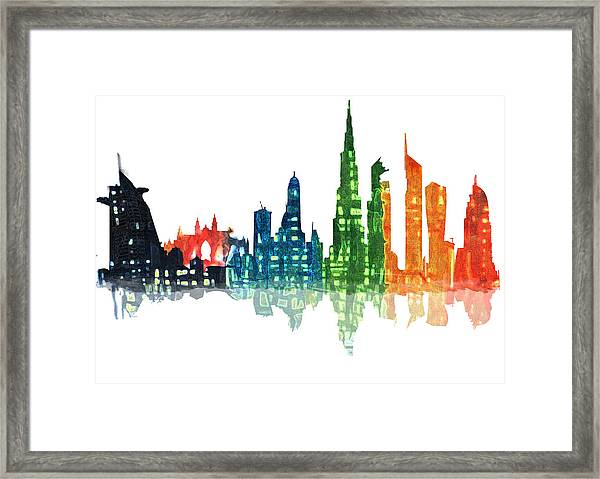 Colors Of The City Framed Print