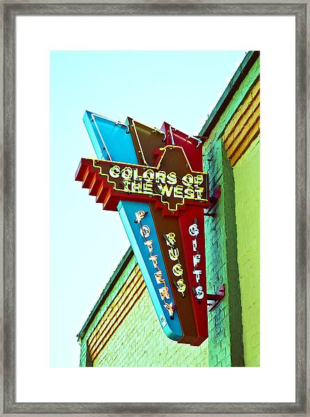 Colors Of The West Framed Print