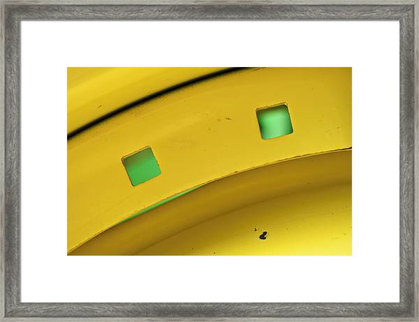 Colors On A Curve Framed Print