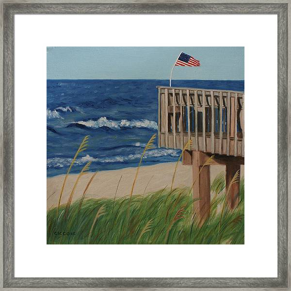 Colors On The Breeze Framed Print