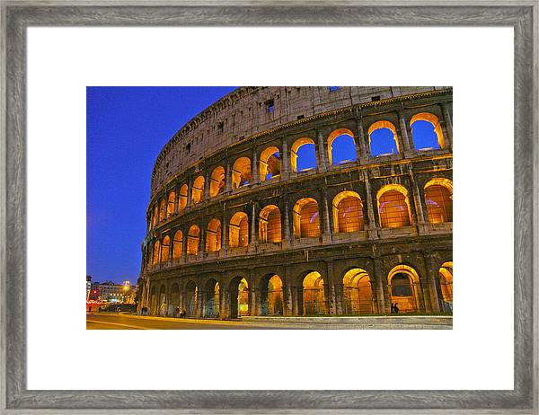 Colosseum Lights Framed Print
