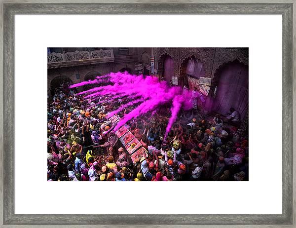 Colour Blast Framed Print