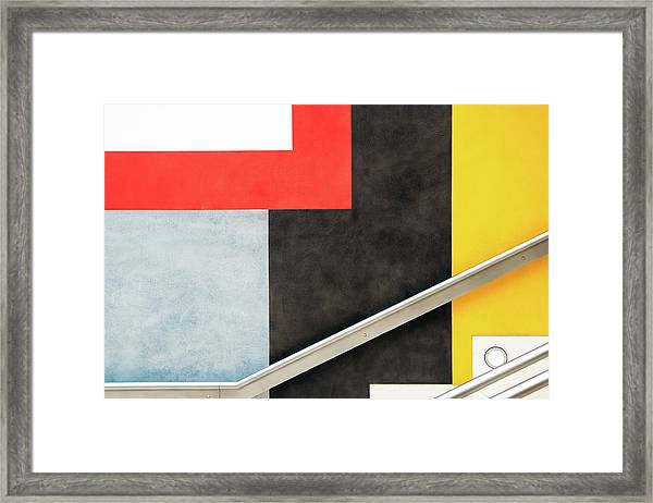 Colour Block Framed Print by Linda Wride