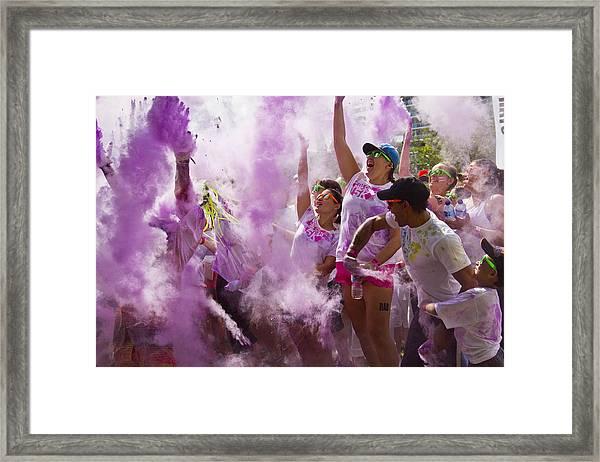 Colour Purple  Framed Print by Debbie Cundy