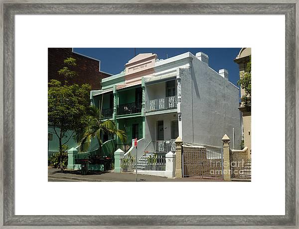 Colourful Australian Terrace House Framed Print