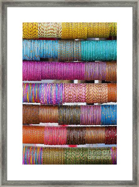Colourful Indian Bangles Framed Print