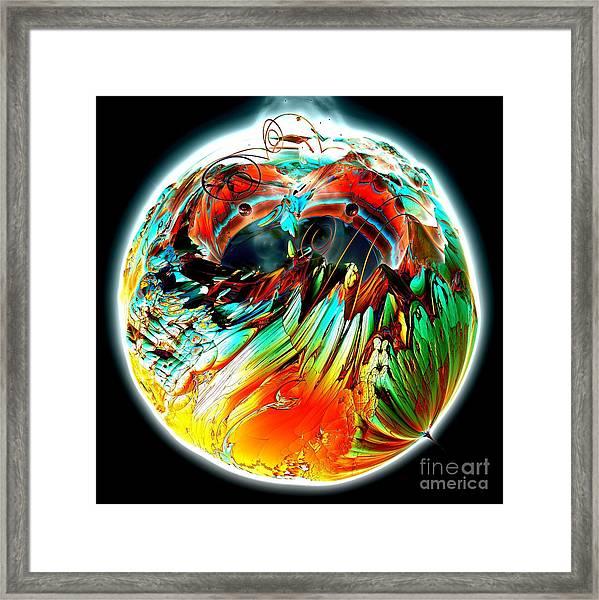 Colourful Planet Framed Print by Bernard MICHEL