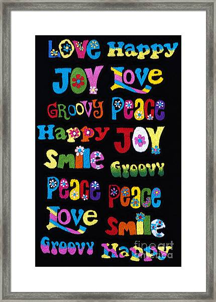 Colourful Words Framed Print