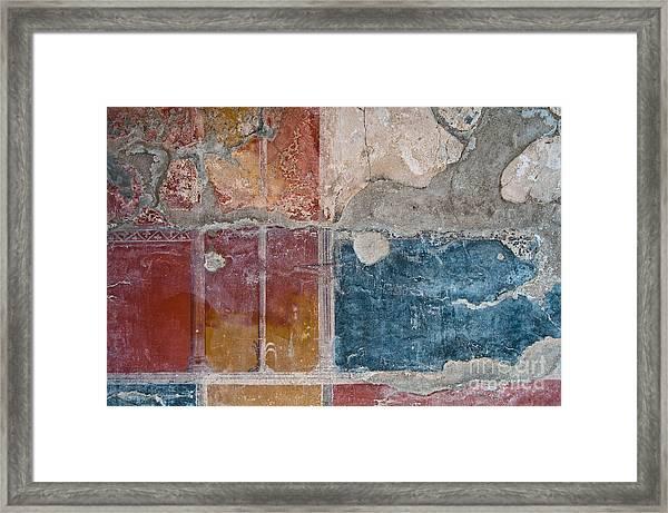 Colours Of Herculaneum Framed Print