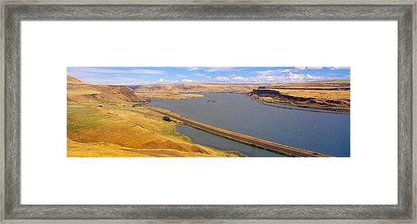 Columbia River In Oregon, Viewed Framed Print
