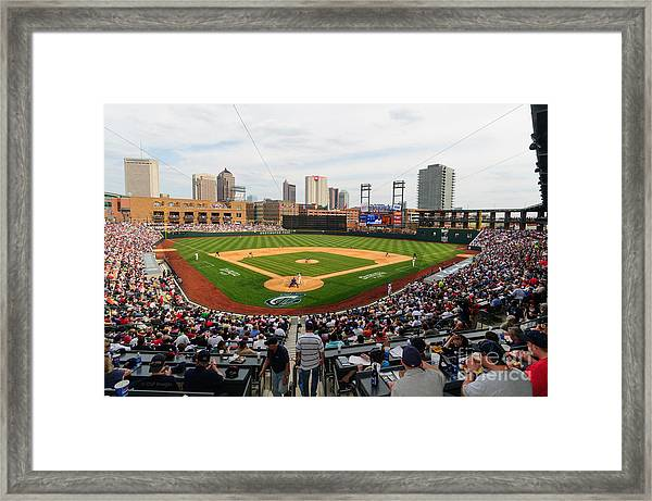 D24w-295 Columbus Clippers Photo Framed Print