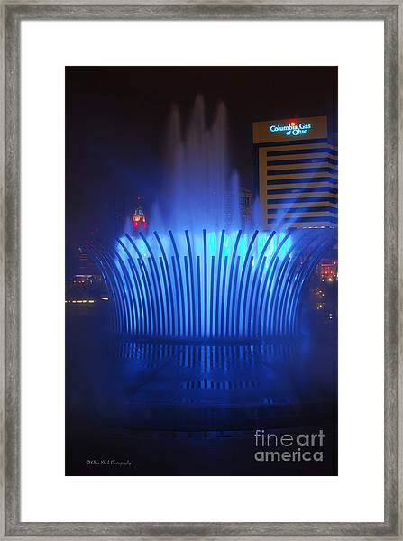 D101l-122 Scioto Mile Fountain Photo Framed Print