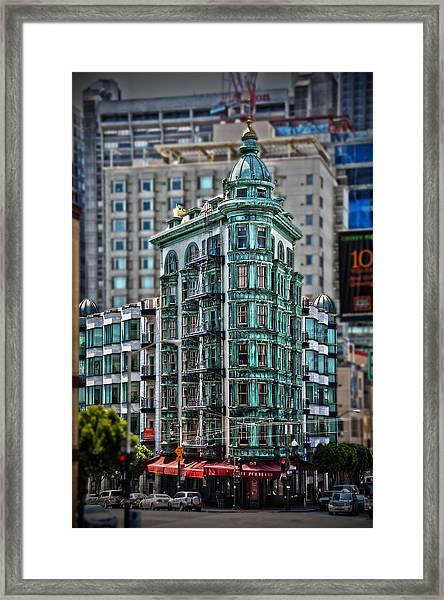 Columbus Tower In San Francisco Framed Print