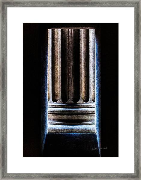 Column Number Nine  Framed Print