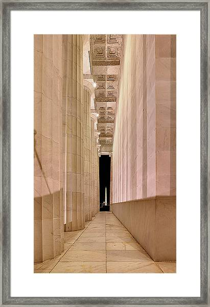 Columns And Monuments Framed Print
