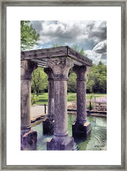 Columns In The Water Framed Print