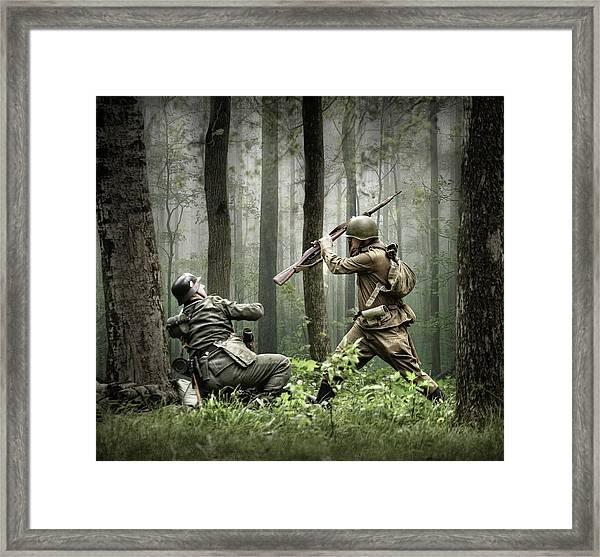 Combat Framed Print