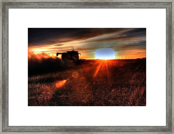 Combine Into The Night Framed Print