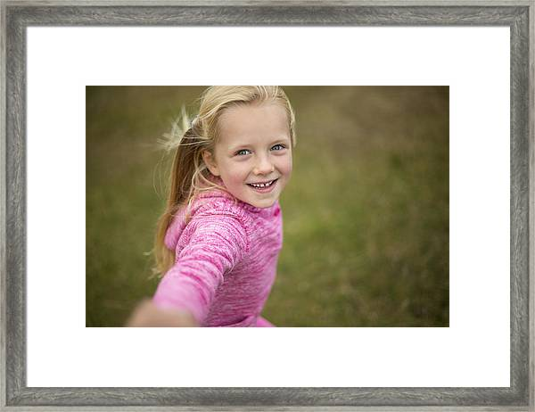 Come Play With Me! Framed Print by SolStock