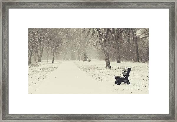 Come Sit Framed Print