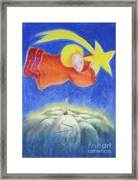 Comet Framed Print