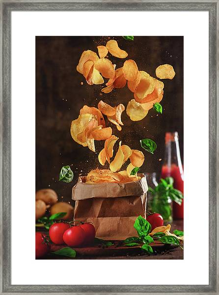 Comfort Food For Stormy Weather Framed Print by Dina Belenko